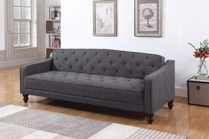 Tufted FUTON Sofa Bed Dark Grey for Sale in Montclair, CA