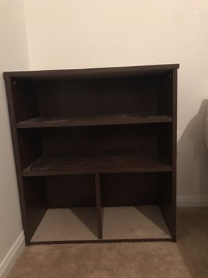 Shelves(4) $15 each or $65 for all 4 + 4 taupe storage bins for shelves (if desired) for Sale in Temple, TX