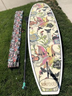 Sakroots Paddle Board with Paddle and Travel Bag for Sale in Bend, OR