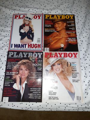 4 Playboy magazines 40.00 firm for Sale in Boulder City, NV