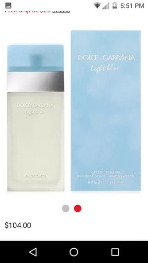 Dolce&Gabbana (light blue) woman perfume for Sale in Whittier, CA