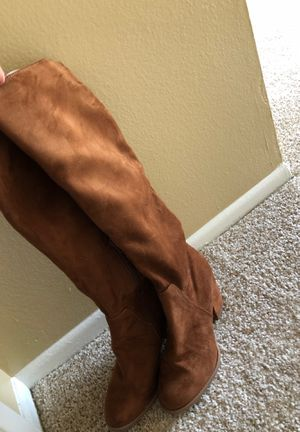 brown high heel boots for Sale in Anaheim, CA