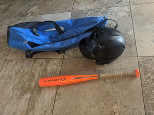 Little league helmets and with bag for Sale in Phoenix, AZ