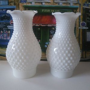 Fenton Hobnail Milk Glass Lamp Shades for Sale in Los Angeles, CA