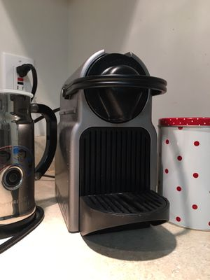 Nesspresso coffee machine with mik frother and capsules for Sale in Oakton, VA