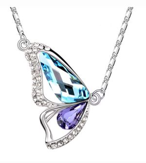 Beautiful Swarovski Element Butterfly Pendant Necklace for Sale in Germantown, MD