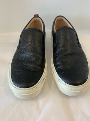 Gucci black leather women sneaker loafers size 39 authentic for Sale in San Diego, CA