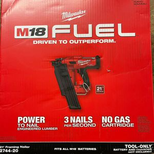 Milwaukee M18 FUEL 3-1/2 in. 18-Volt 21-Degree Lithium-Ion Brushless Cordless Framing Nailer (Tool-Only) for Sale in Miami, FL