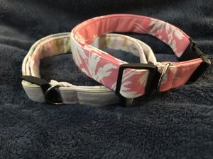 Light and Dark pink floral Dog collars for Sale in Stockton, CA