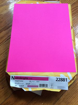 Blank 180 Pink Sheets Paper for Sale in Chicago, IL