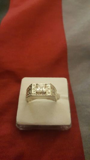 Real 925 sterling silver white sapphire wedding ring size 11 for Sale in Moreno Valley, CA
