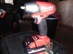 "Brand new Milwaukee fuel brushless cordless 3/8"" Square ring impact wrench comes with a high output CT 3.0 red lithium battery for Sale in Denver, CO"
