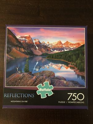 Buffalo Games - Reflections - Mountains on Fire - 750 Piece Jigsaw Puzzle for Sale in Issaquah, WA