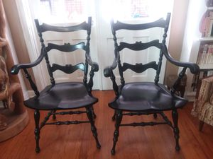 2 Antique Windsor Wood Accent Chairs for Sale in Orlando, FL
