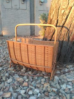 Vintage Rattan Magazine Holder for Sale in Phoenix,  AZ