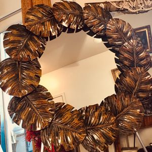 Decorative large mirror - impressive metal art frame W 35 inch for Sale in Chandler, AZ