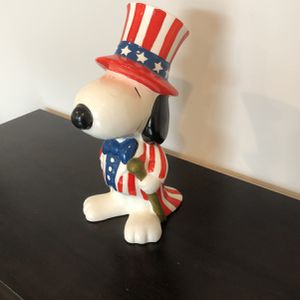 Snoopy Piggy Bank (Ceramic Hand Painted) for Sale in Boyds, MD
