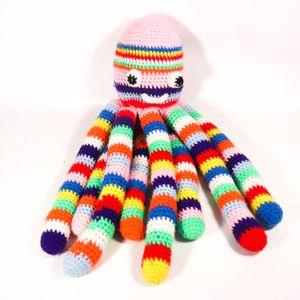 Rainbow Octopus Tentacle Crosshatch Soft Stuffed Animal Plushie Toy Plush Cuddly for Sale in Mesa, AZ