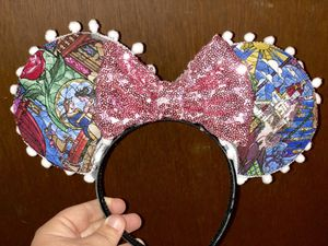 Beauty and the beast Mickey ears for Sale in Davenport, FL