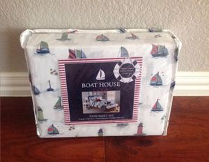 New BOAT HOUSE 3 PC Sailboat ⛵️/ Sailing Twin Sheet Set for Sale in McKinney, TX