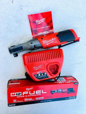 "New Milwaukee M12 FUEL 1/2"" Ratchet & Charger for Sale in Modesto, CA"