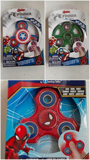 $3 Lot of 3 Marvel Theme Fidget Spinners - Avengers Captain America Hulk Spiderman for Sale in Hemet, CA