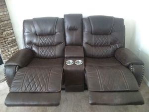 Leather Reclining Chair, 2 seated Sofa & 3 seated Sofa for Sale in Siler City, NC