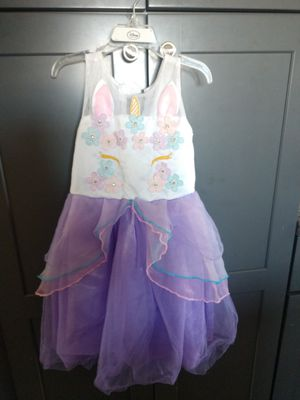 Girls unicorn party dress and gloves for Sale in Downey, CA