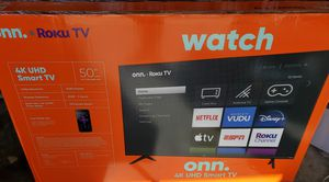 50 inch 4k.uhd led smart tv roku .. new in box and sealed for Sale in Plano, TX