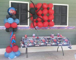 Spiderman balloon decor for Sale in McDonough, GA