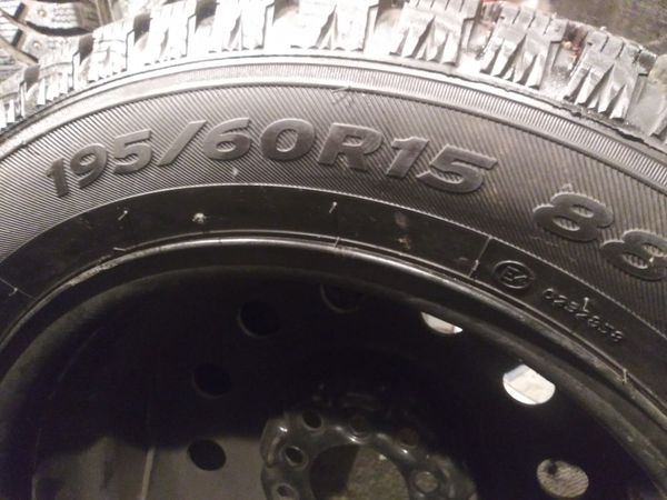 195-60-15R. NEW winter tires.