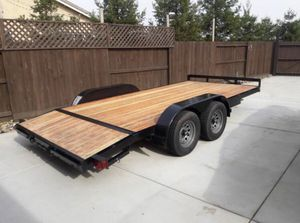 Car trailer with ramps barley used for Sale in San Lorenzo, CA