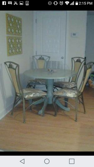 Table and 4chairs $250.00 cash only for Sale in Takoma Park, MD
