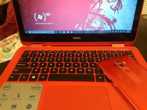 Dell 2n1 and matching red phone for Sale in Georgetown, AR