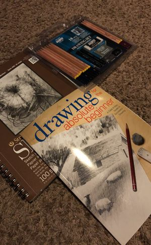 Sketch book, drawing for beginners, sketch drawing set for Sale in Dickinson, ND