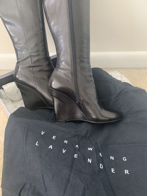 Black leather boots for Sale in Baltimore, MD