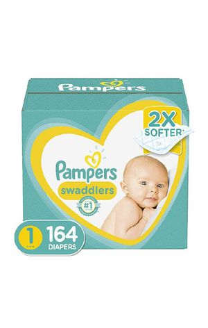 Diapers Newborn/Size 1 (8-14 lb), 164 Count - Pampers Swaddlers Disposable Baby Diapers, Enormous Pack for Sale in Willowbrook, IL