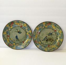 Antique pair Daher Decorated Ware plates for Sale in Whittier,  CA