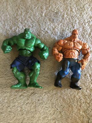 """TheMarvel Incredible Hulk & The Thing 12"""" Action Figure 2003 for Sale in West Linn, OR"""