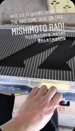 Mishimoto 99-05 Mazda Miata Manual Aluminum Radiator for Sale in Garden Grove, CA