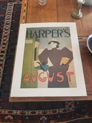 Edward Penfield Harper's August lithograph Print for Sale in West Palm Beach, FL