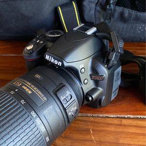 Nikon D3100 + 55-300mm Lens+35mm Lens+ Lowepro Bags for Sale in Santee, CA