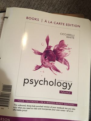 Psychology 4th edition for Sale in Chino, CA
