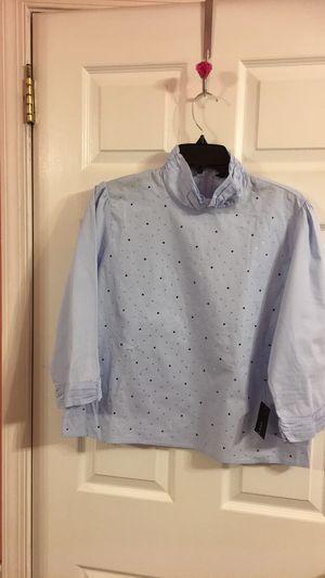 Light blue cotton blouse for Sale in Delanco, NJ