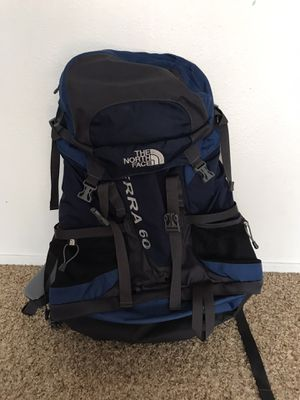 The North Face Terra 60 backpack for Sale in Eugene, OR