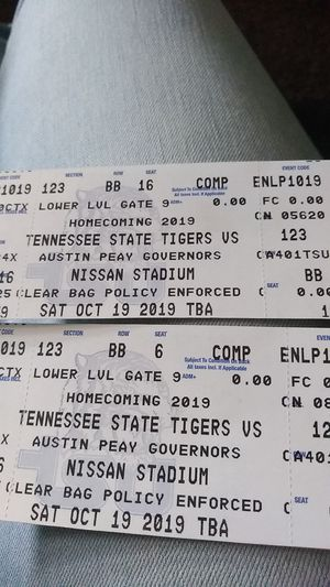 Football tickets, for Sale in Chattanooga, TN