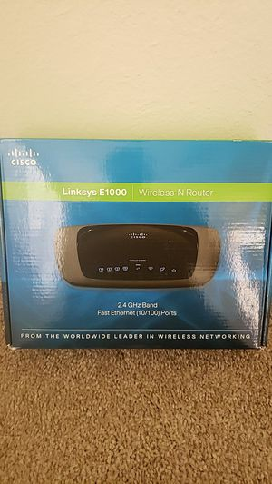 Linksys E1000 wireless-N router for Sale in Scottsdale, AZ