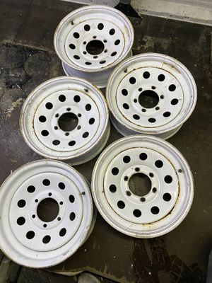 """Trailer wheels with spare 16"""" for Sale in Covington, WA"""