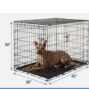 """Large Wire Foldable Dog Crate 42""""x28""""x30 for Sale in Mukilteo, WA"""