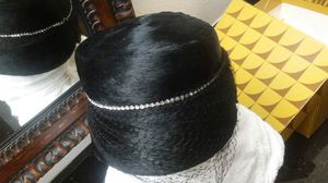 Vintage Woman's Dress Hat - 1940s - 1950s Fur, Rhinestones and Black Veil. Tre Chic! for Sale in Darnestown, MD